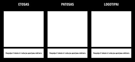 Etosas Pathos Logotipai Šablono