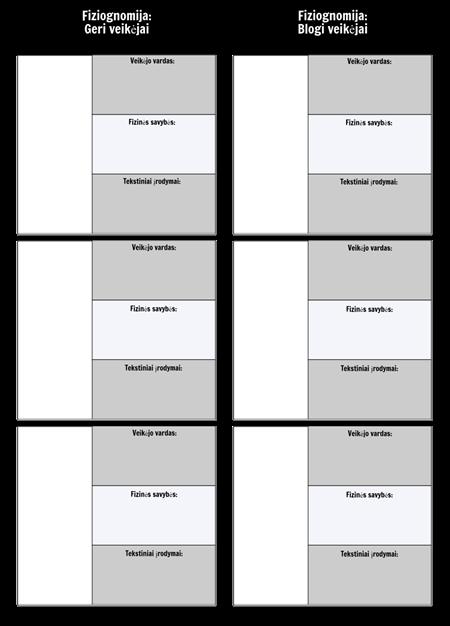 Fiziognomijos Palyginimo Diagramos Šablonas