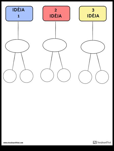 giminingos diagramos šablonas