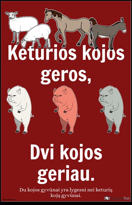 Gyvūnų Ūkio Propagandų Plakatas