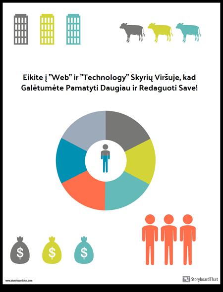 infografinis šablonas