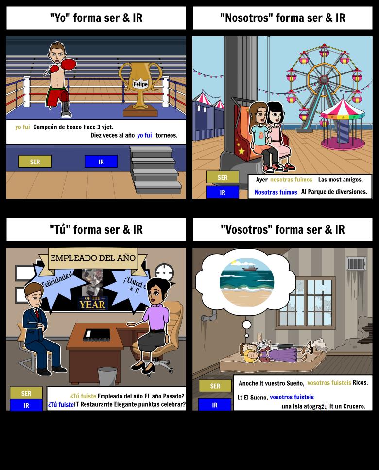 Ispanijos Preterite: Ser & Ir