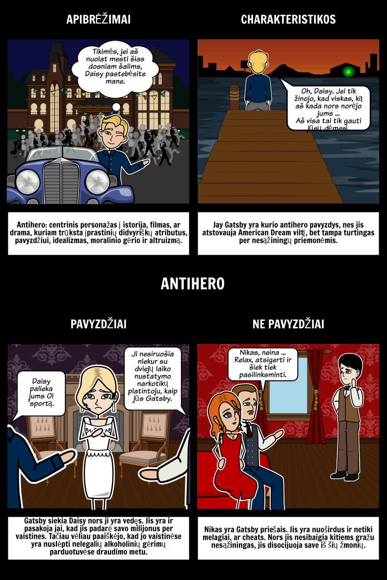 Jay Gatsby Kaip Antihero