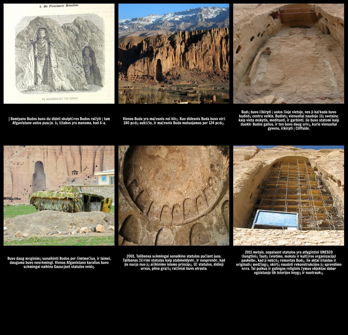 """Jungimas su """"Ozymandias"""" temą: The Bamiyan Budų"""