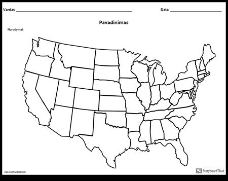 Jungtinės Amerikos Valstijos Žemėlapis