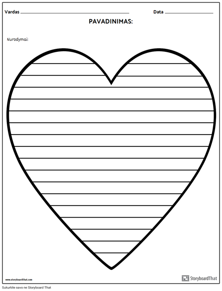 Kūrybinis Rašymas - Širdis