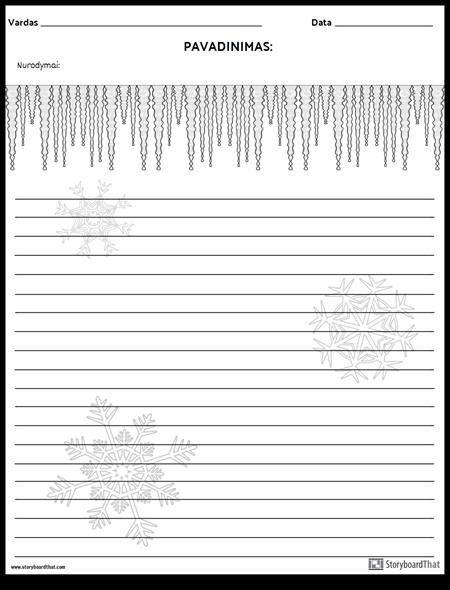 Kūrybinis Rašymas - Žiema