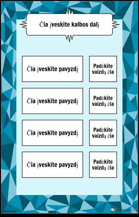 Kalbos Plakato Dalis