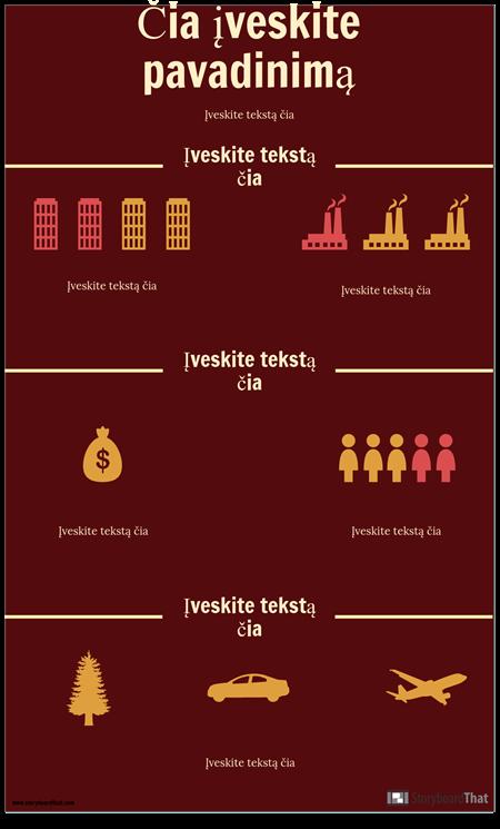 Mokslo Infografijos Šablonas