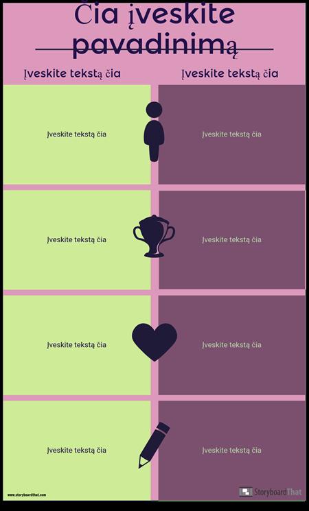 Palyginimo Infografijos Šablonas