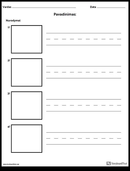 Praktikos Rašymas - Ilgesni Žodžiai ir Paveikslėlių Dėžutės