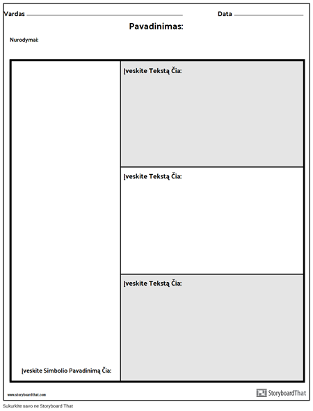 Simbolių Diagrama - 3 Klausimai