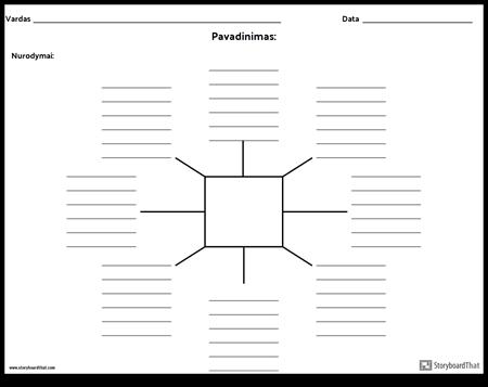 Spider Map su linijomis - 8