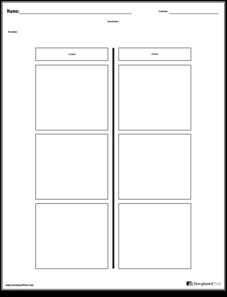 T-diagrama - 2 Stulpeliai