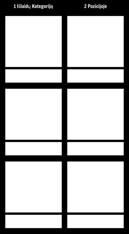 T-diagrama 3 Eilutės
