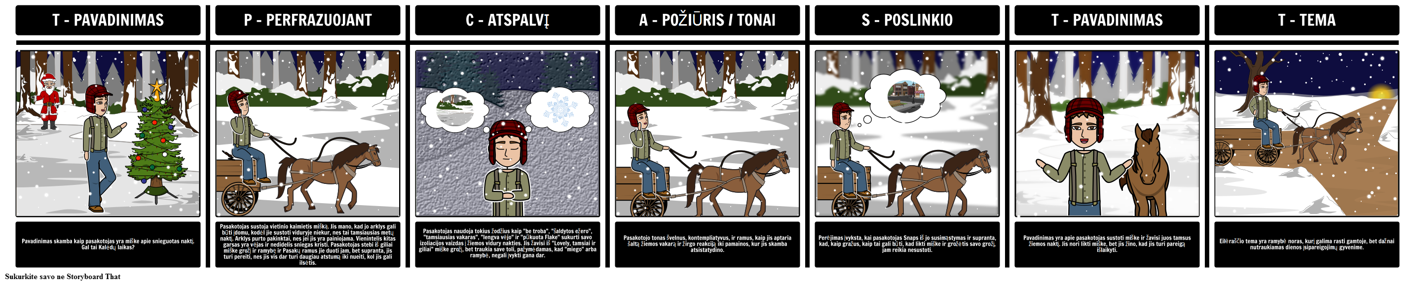 """TP-CASTTing """"stopping by Woods ant Snowy vakaras"""""""