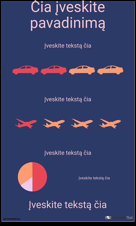Transportavimas PSA Infographic