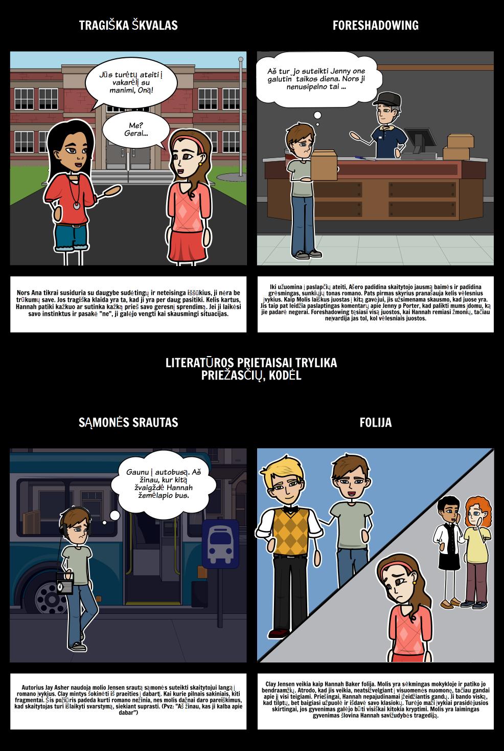 Trylika Priežasčių, Kodėl Literary Prietaisai