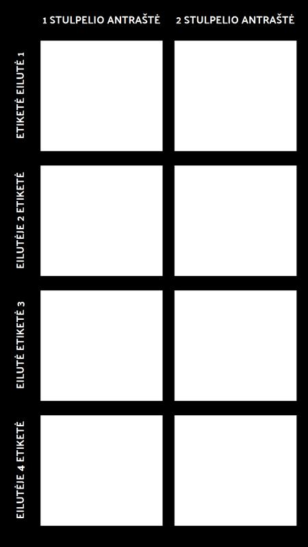 Tuščia 2X4 Diagrama