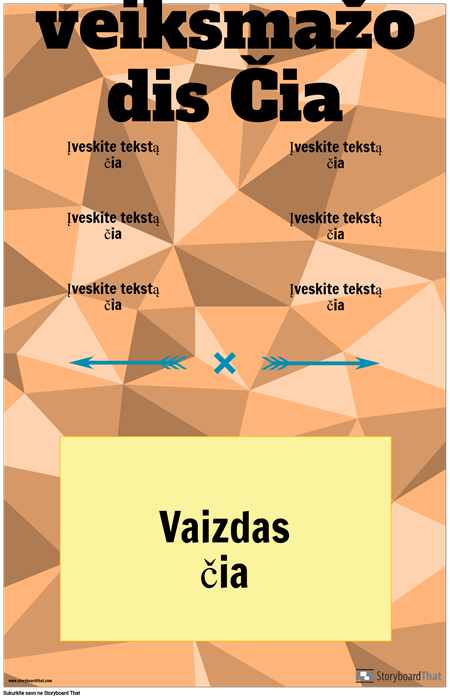 Vertikalus Veiksmažodžio Konjugacijos Plakatas
