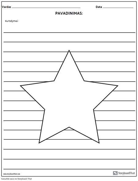 Žvaigždė Iliustracija