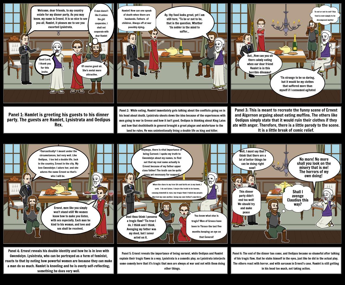 Oedipus, Lysistrata, Hamlet & Ernest Meet For Dinner