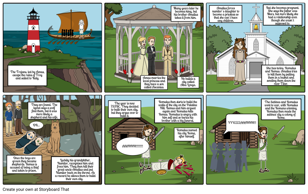 Romulus and Remus  history homework