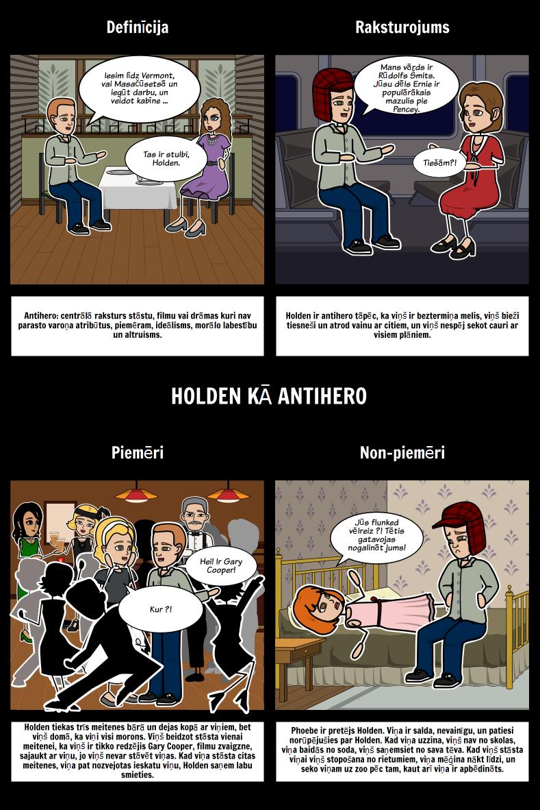 Catcher in Rye Holden kā Antihero