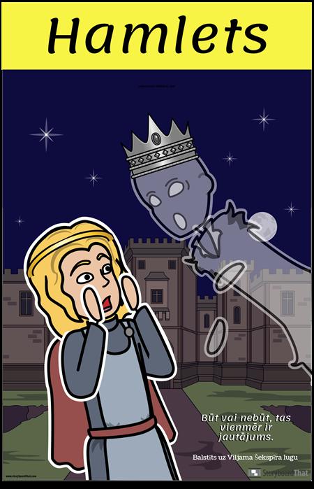 Hamleta ELA Plakāts