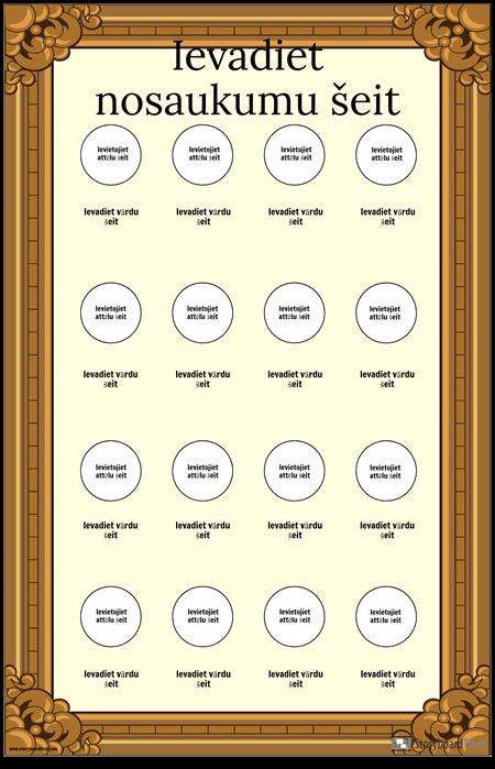 Ierāmēts Vizuālā Vārdnīcas Plakāts