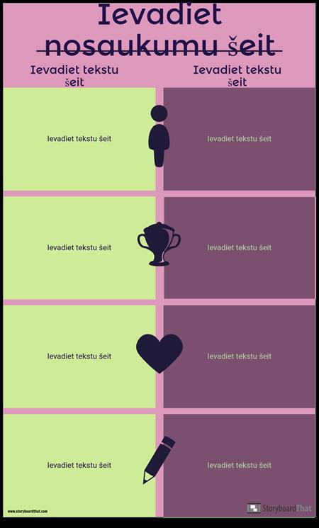Infographic Template Salīdzinājums
