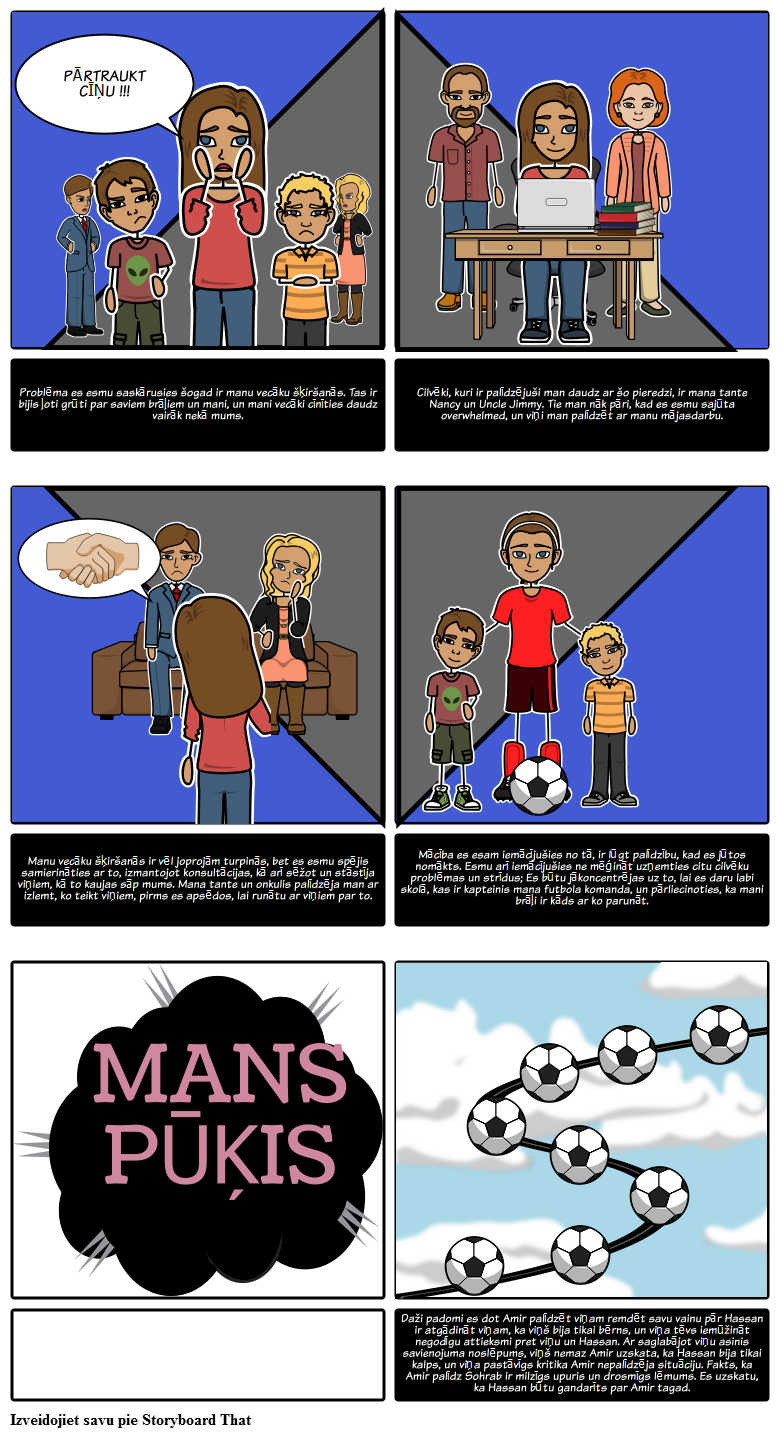 Izveidojiet Savu Kite Storyboard Projekts The Kite Runner