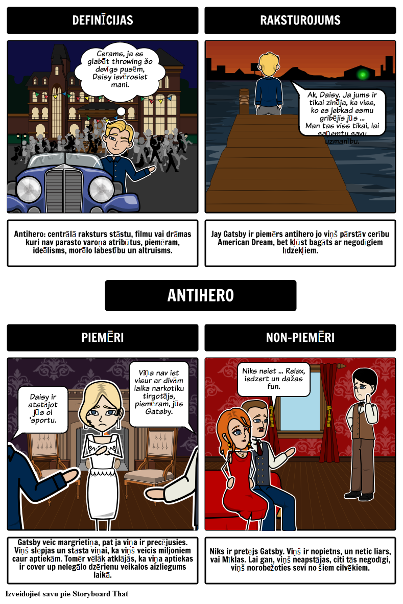 Jay Gatsby kā Antihero