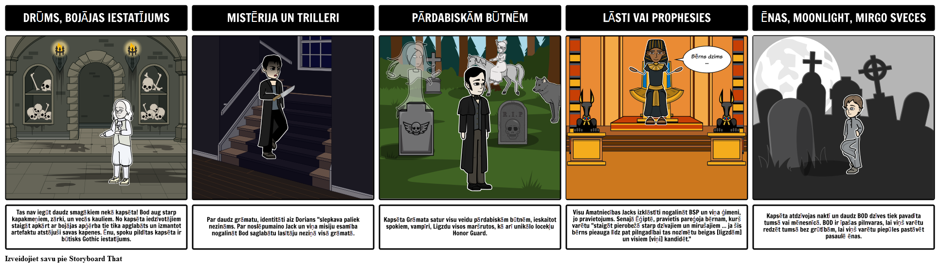 Kapsēta Book Gothic Elementi