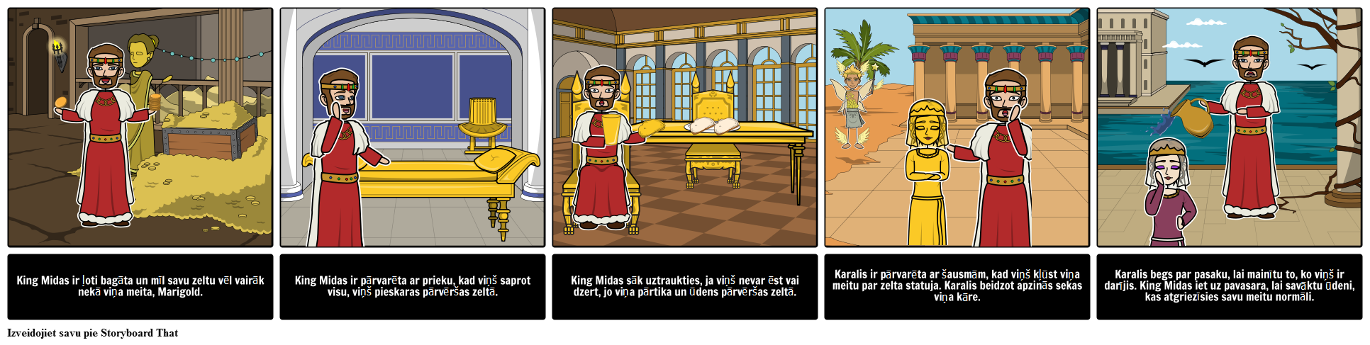 """King Midas """"Golden Touch Character Analysis"""