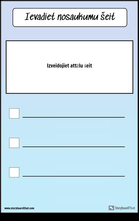 Kontroljautājumu saraksts ar attēlu