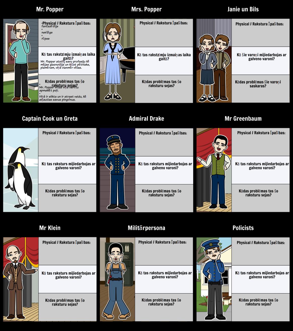 Mr Popper s Penguins - Character Karte