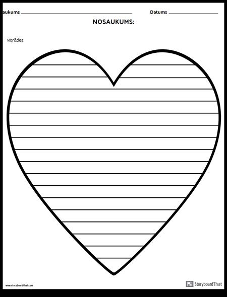 Radošā Rakstīšana - Sirds