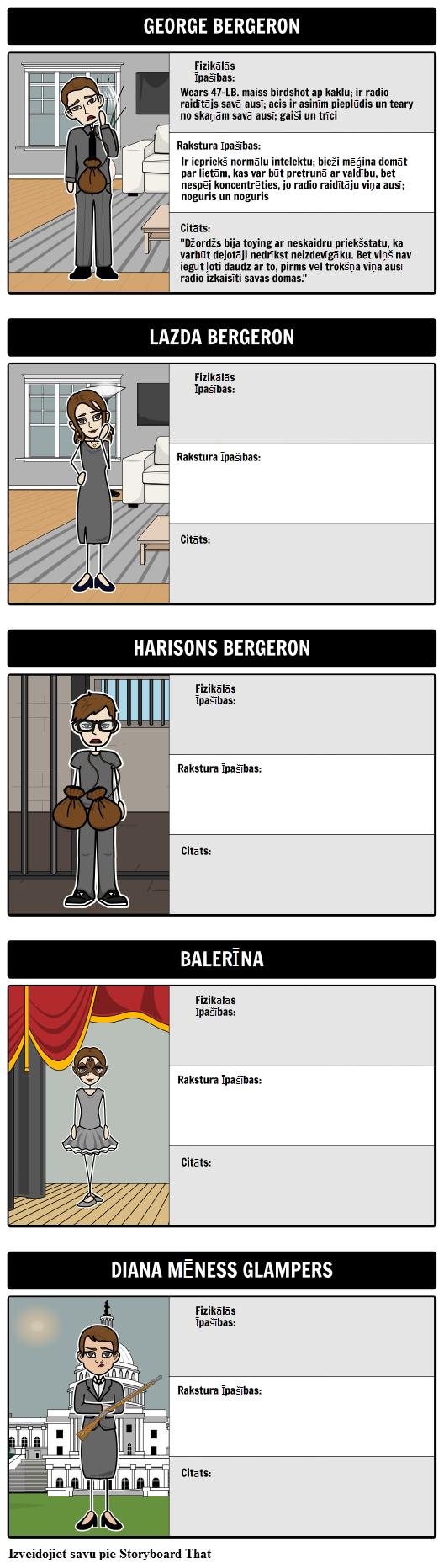 Rakstzīmju Map Harrison Bergeron