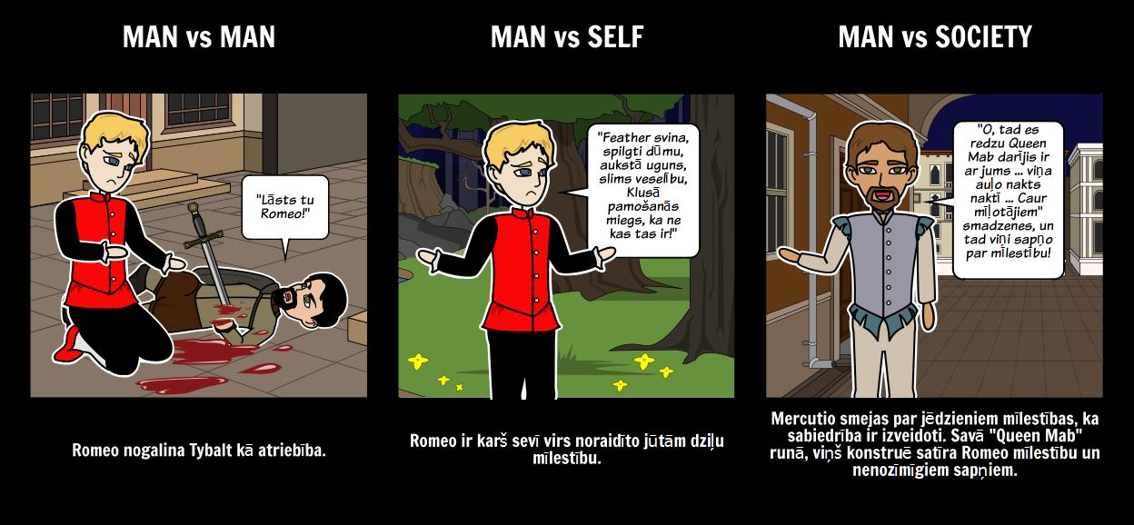 Romeo un Džuljeta Konflikti