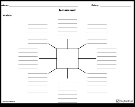 Spider Map ar līnijām - 8