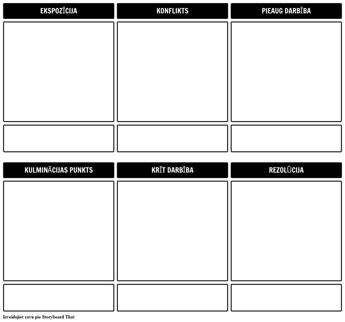Stāsts Outline Storyboard Template