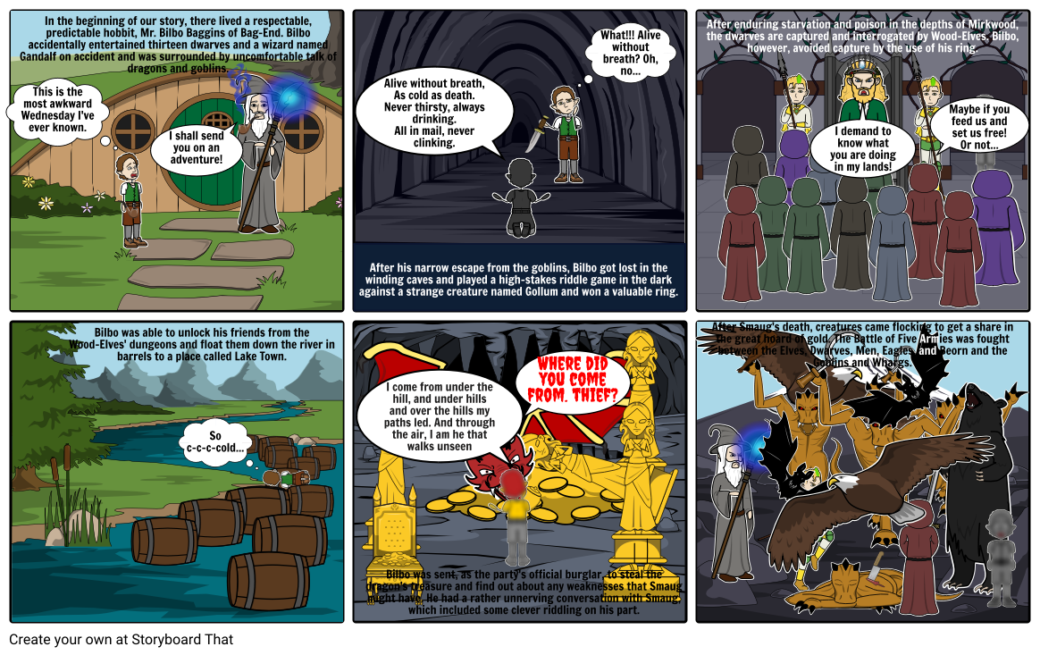 The Hobbit Book Project Storyboard By Mac8409