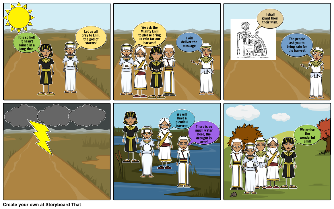 Sumerian Religion Storyboard by macdaddle