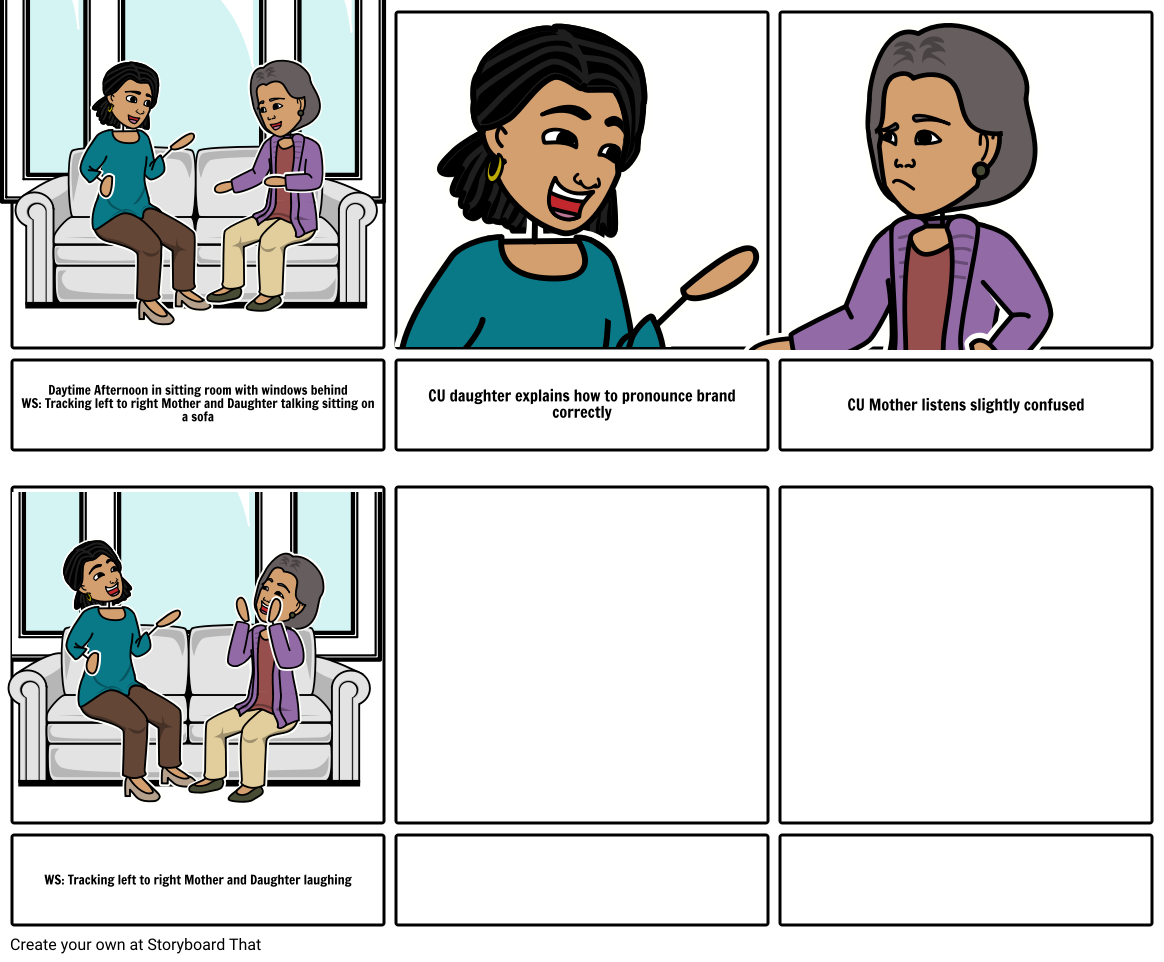 Scene 8 Mother and Daughter Storyboard by malcolm60483
