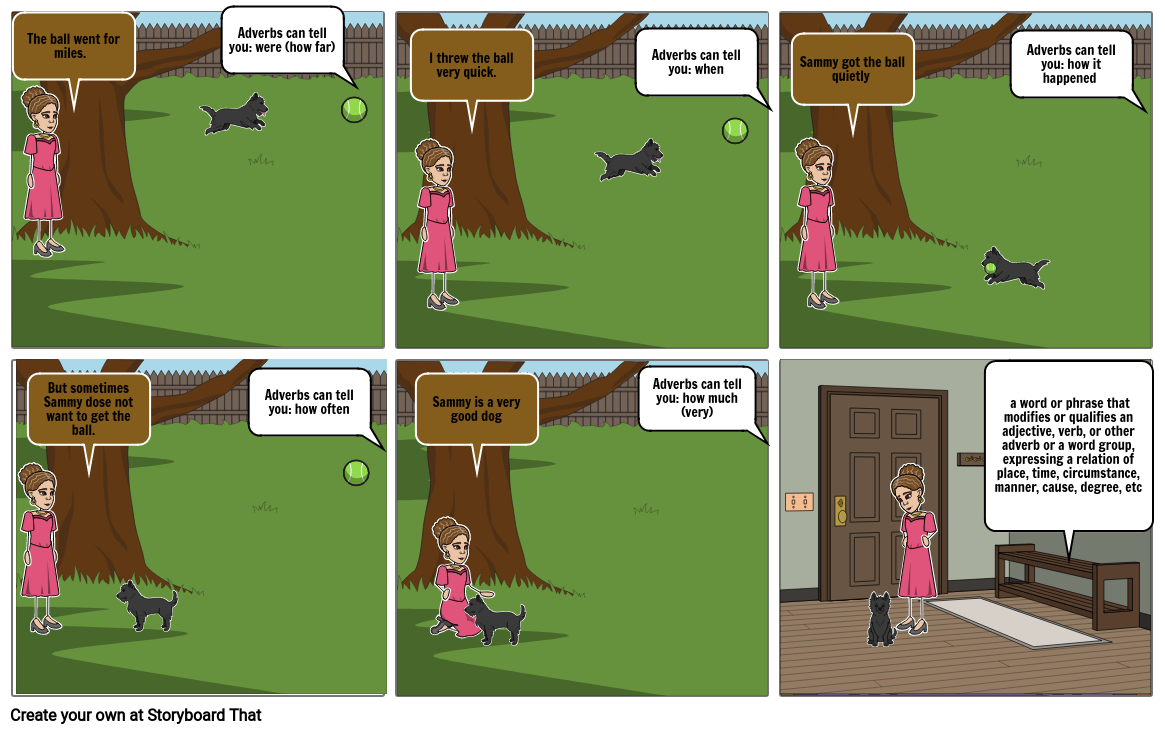 Adverb Comic Project