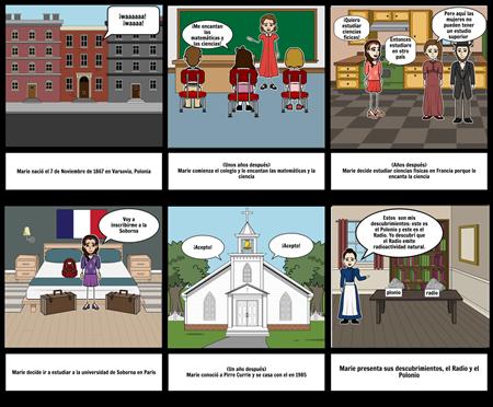 comic de Marie Curie