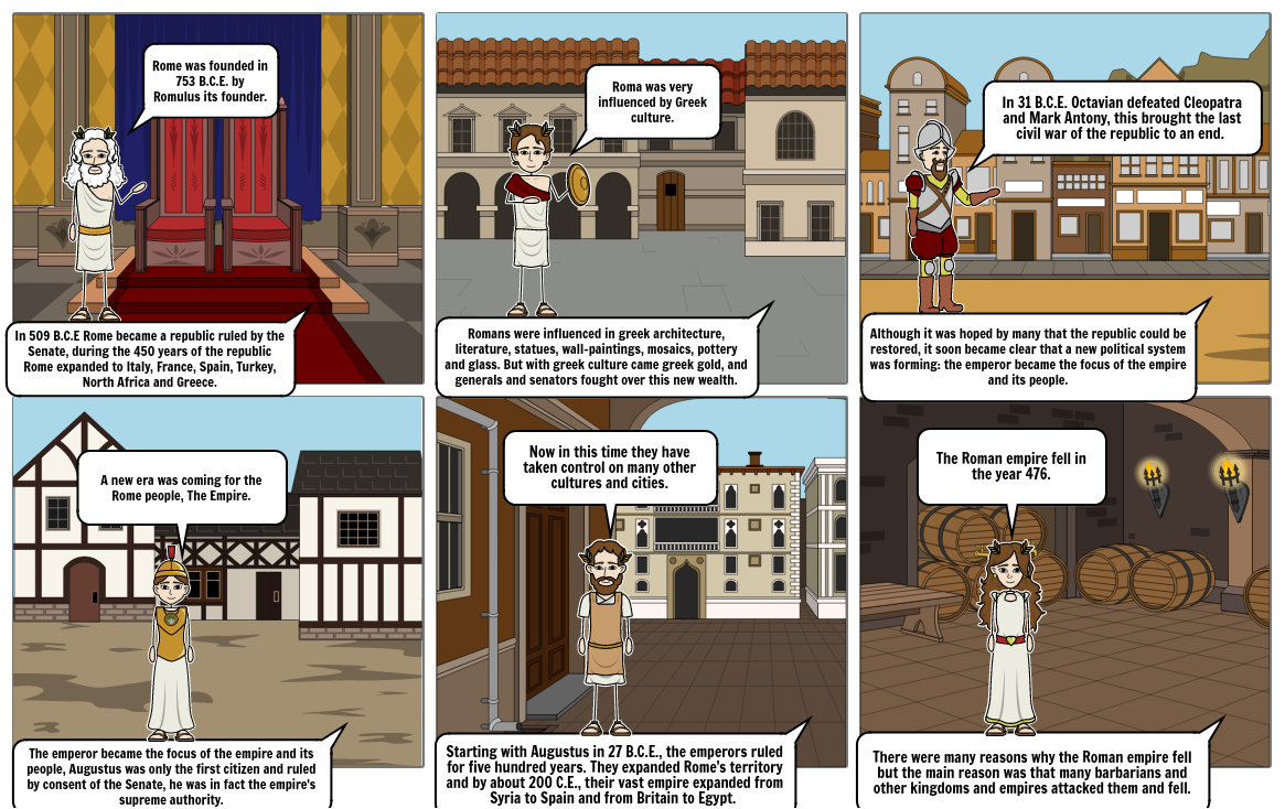 Rome storyboard