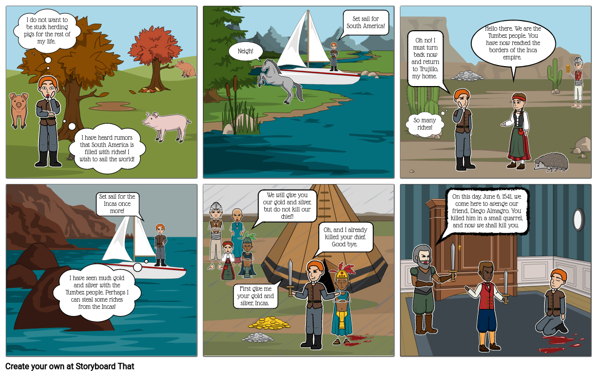 Francisco Pizarro Storyboard - Social Studies
