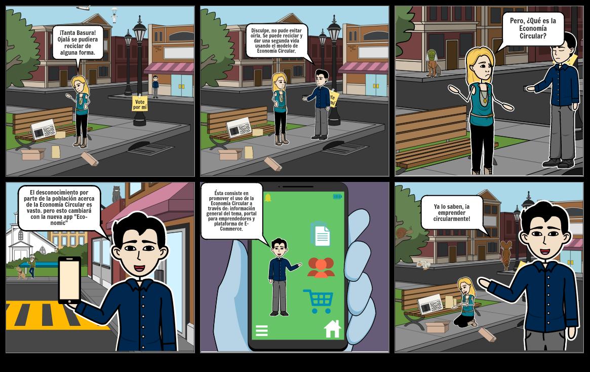 Economía Circular Storyboard